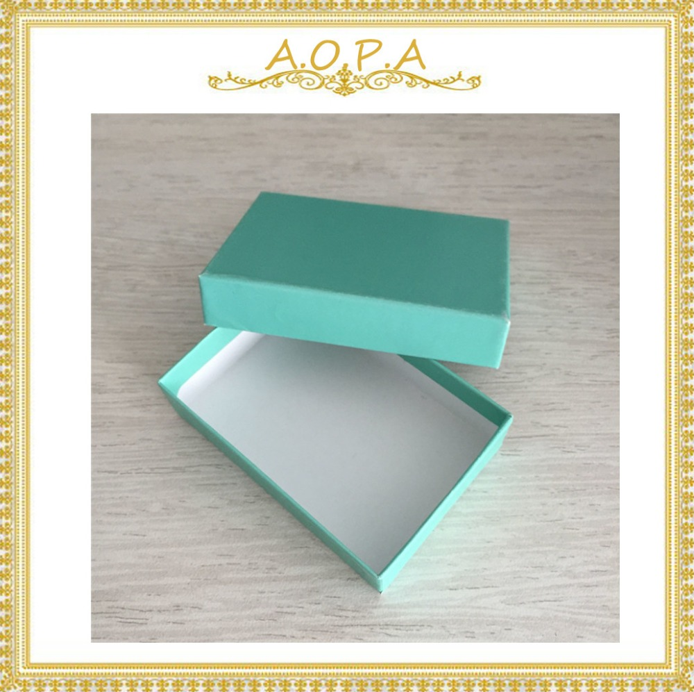 32 Teal Green cotton filled paper box 100pcs with high quality