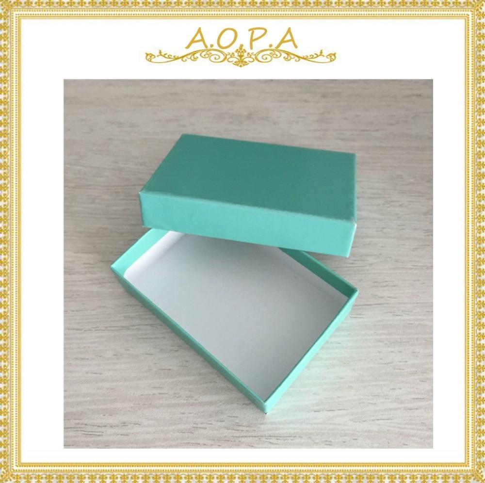 #32ティール緑綿充填紙箱100ピースで高品質  グループ上の ジュエリー & アクセサリー からの ジュエリー用包装 & ディスプレイ の中 1