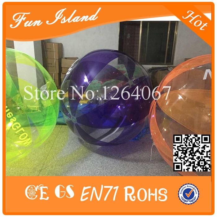 Livraison Gratuite En Plein Air Boule de Marcher Sur L'eau, Aqua Zorbing 1.0mm TPU Balle Pour Piscine, Géant Effacer Bubble Ball Pour L'eau