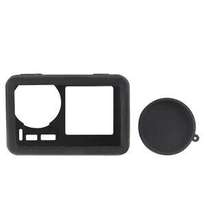 Image 2 - 2 で 1 osmoアクションカメラシリコンケース + レンズキャップ保護カバー防塵アンチスクラッチ用dji osmo acitonカメラ