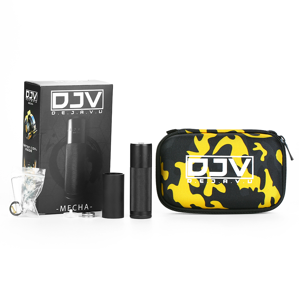 100% D'origine Les LEVÉES DU Ciel DEJAVU DJV Mech MOD Avec Unique Système Hybride et Facultatif Printemps/Aimant Commutateur E-cigarette Vaping Mod
