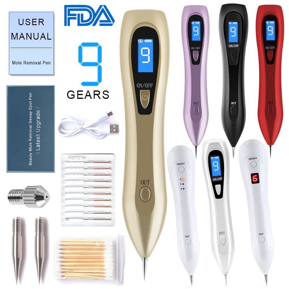 Mole Removal Pen Wart Remover Laser Tool Kit Beauty Face Skin Device For Body Facial Freckle Tag Nevus Age Spots Tattoo Fda Ce