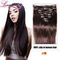 Clip on extensões de cabelo cabeça cheia 8 pcs brasileiro virgem do cabelo humano grampo de cabelo em extensões cabelo humano tic tac pince cheveux