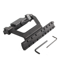 Tactical Heavy Duty Army Force AK 74 47 Side Rail Lock Scope Sight Mount Quick QD