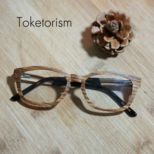High fashion wooden glasses with clear lens retro skateboard wood optical glasses frames can customize prescription lenses 2106