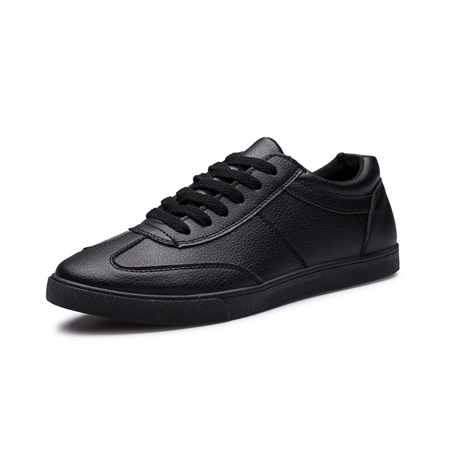 The New 2016 Men And Women Breathable Leather Shoes Wear Casual Fashion Shoes Comfortable Black Men's Shoes XZ33