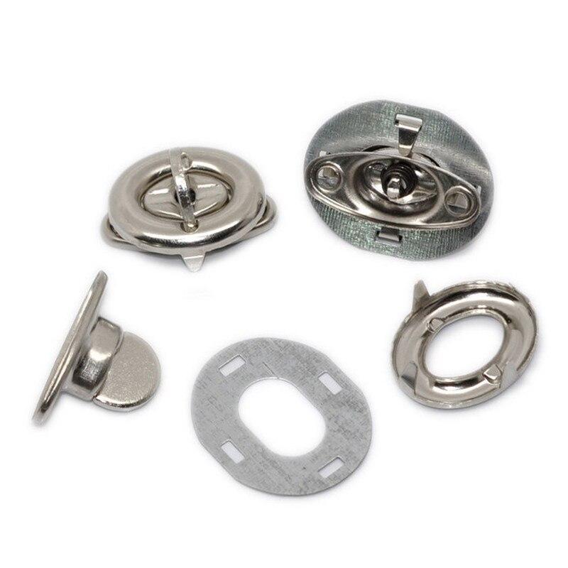 5 Sets Silver Tone Oval Clasps Twist Turn Lock Handbag Bag Accessories 35x20mm
