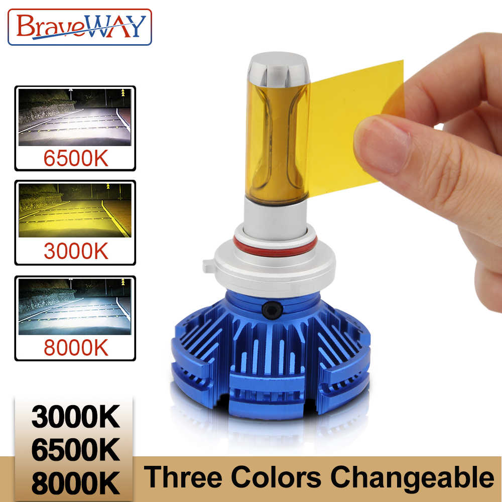 BraveWay H4 LED H7 H11 Led 3000K 6500K 8000K Car Light Bulbs LED 12V Auto Bulbs 9006 HB4 H8 Fog Lights LED Lamps for Motobike