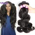 7a Virgin brazilian body wave grace hair company mario hair 100% brazilian human hair weaving 1#B real brazilian hair extentions