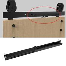 1Set Door Slide Damper Soft Close Slides Mechanism Furniture Remission Accessory For Guide Sliding Rail Barn Wood Door Hot Sale(China)