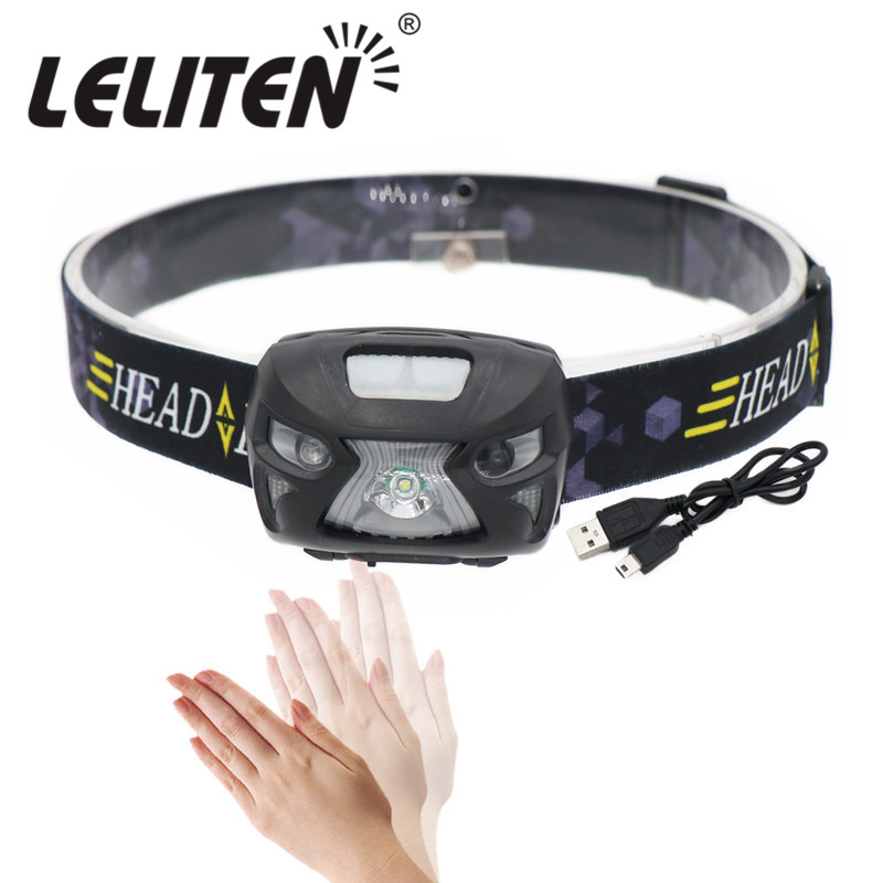 5800Lumen Induction led Headlamp Waterproof Mini Rechargeable Headlight Built in battery Camping Fishing lights Flashlight Torch r3 2led super bright mini headlamp headlight flashlight torch lamp 4 models