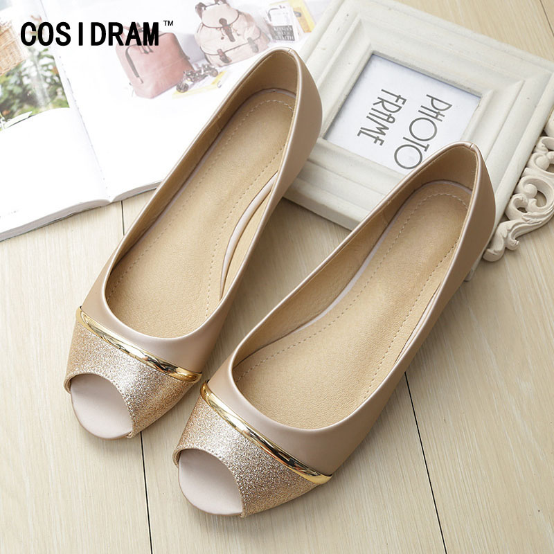 Peep Toe Breathable Summer Shoes Women Flats New 2017 Female Ladies Casual Moccasins Women Flat Shoes Plus Size 41 42 43 SNE-721 new 2017 spring summer women shoes pointed toe high quality brand fashion womens flats ladies plus size 41 sweet flock t179