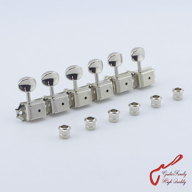 Original Genuine 6 In-line GOTOH SD91-05M-HAPM  Kluson Vintage  Guitar Locking Machine Heads Tuners  ( Nickel ) MADE IN JAPAN купить