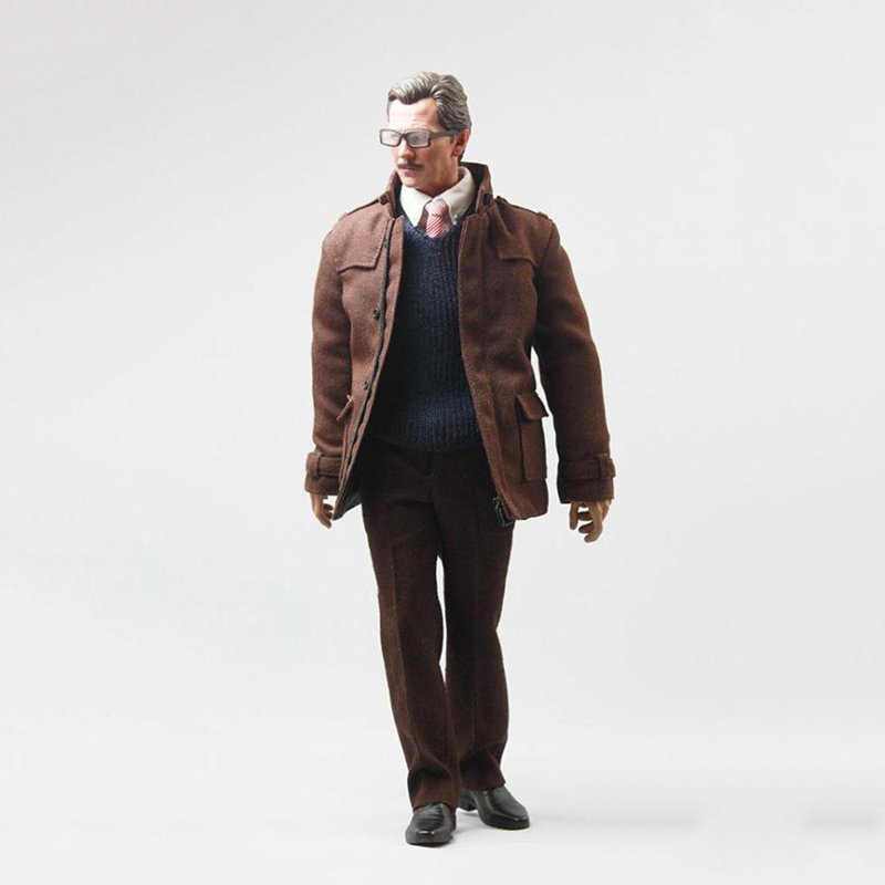 1/6 Gotham City Police Commissioner Gordon Coat Suit and Shoes for 12inch Action Figure DIY Accessories police pl 12921jsb 02m