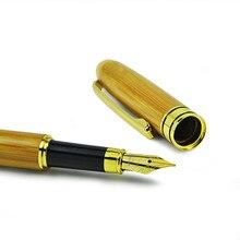 50pcs/lot Writing Bamboo Pen Elegant Fountain Ink Plumas Estilograficas Student Office Stationery Gift Set School Supply