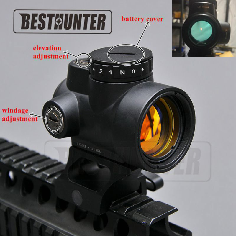 Bestsight MRO Holographic Red Dot Sight Style Optic Scope Tactical Gear Airsoft With 20mm Scope Mount For Hunting Rifle