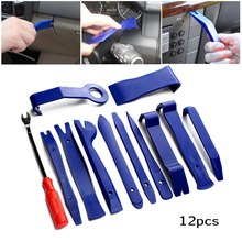 12pcs Car Radio Audio Repair Tool Car Panel Removal Door Clip Panel Pry Tool Dashboard Removal Hard Plastic Opening Hand Tool