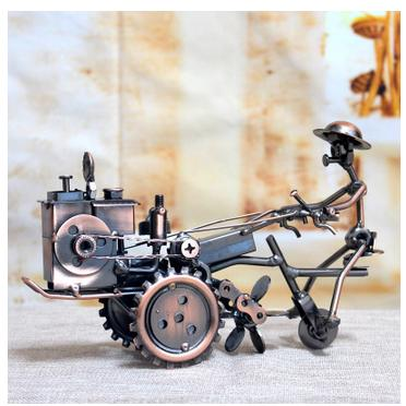 handmade metal wrought iron tractor model Restaurant bar counter household decorations craft gift furnishing articles