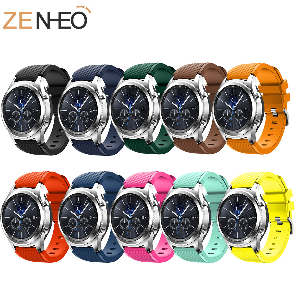 22mm Watch Band Sport Silicone Strap Band For Samsung Gear S3 Frontier Classic Replacement Bands For Samsung Galaxy Watch 46mm