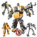 4 Шт. Новый transform warrior различные изменения Деформации роботы Супер Робот Строительные Блоки Клонов playmobil Игрушки