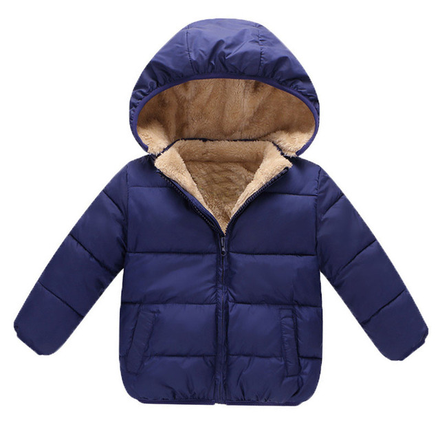 b6f19b2bf BibiCola Winter Baby Boys Snowsuit Cotton Girls Coats Jackets Baby ...