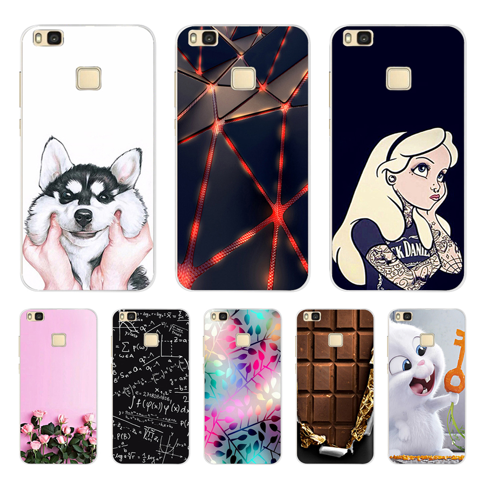 For Huawei P9 Lite 2016 Case Huawei G9 Lite Cover Soft Silicone Phone Case For Huawei P9 LITE P9LITE VNS L21 L31 L23 5 2 inch in Fitted Cases from Cellphones Telecommunications