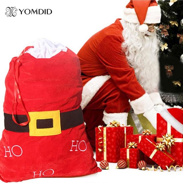Weihnachtsgeschenke Sack.Us 6 89 24 Off Weihnachtsgeschenke Bag Gürtel Weihnachten Decor Großen Sack Stocking Geschenke Tasche Hohoho Samt Tasche Bolsas De Regalo De