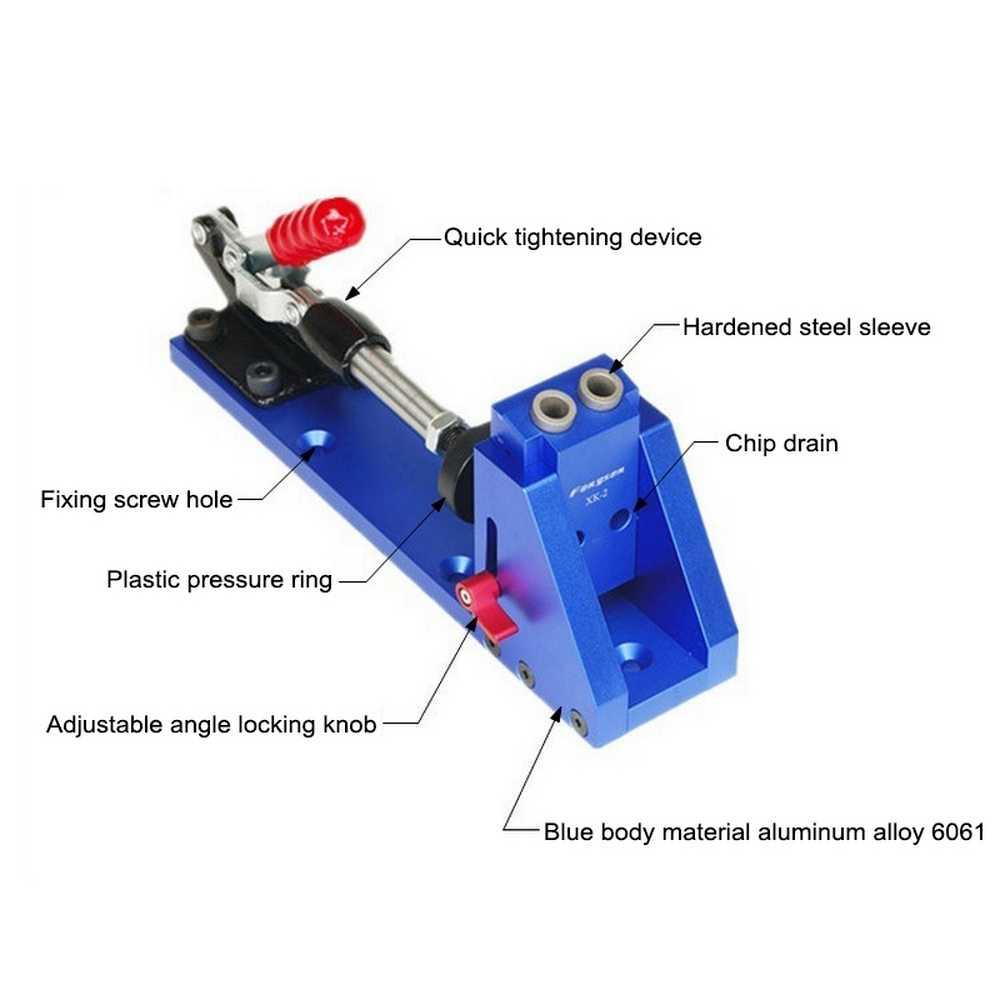 XK-2 bricolage menuiserie perforateur perforateur perforateur positionneur Guide localisateur gabarit menuiserie système Kit réparation montage bois travail outil