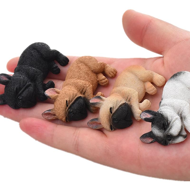 Home Decor mini figurines 2 39 39 Resin French Bulldog Figurine Cute Small Lying Dog Shiba Inu Miniatures for Refrigerator Fridge in Figurines amp Miniatures from Home amp Garden