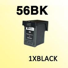 1 шт., совместимый картридж с черными чернилами для 56 C6656A PSC1110/1210/1350/2105/2108/2110/2115
