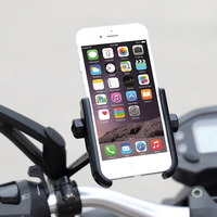 Scooter Mirror Mount Phone Holder Motorcycle Rear View Cell Phone Stand Mount for 4 6.6 inch Mobile Devices
