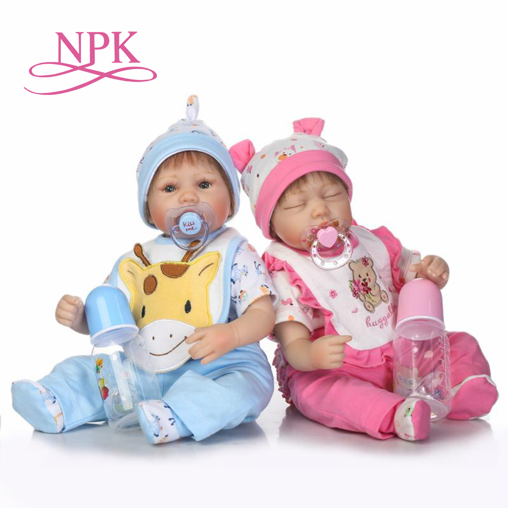 NPK 40CM lifelike reborn premie baby doll cute twin baby sleeping fashion doll Christamas Gift for