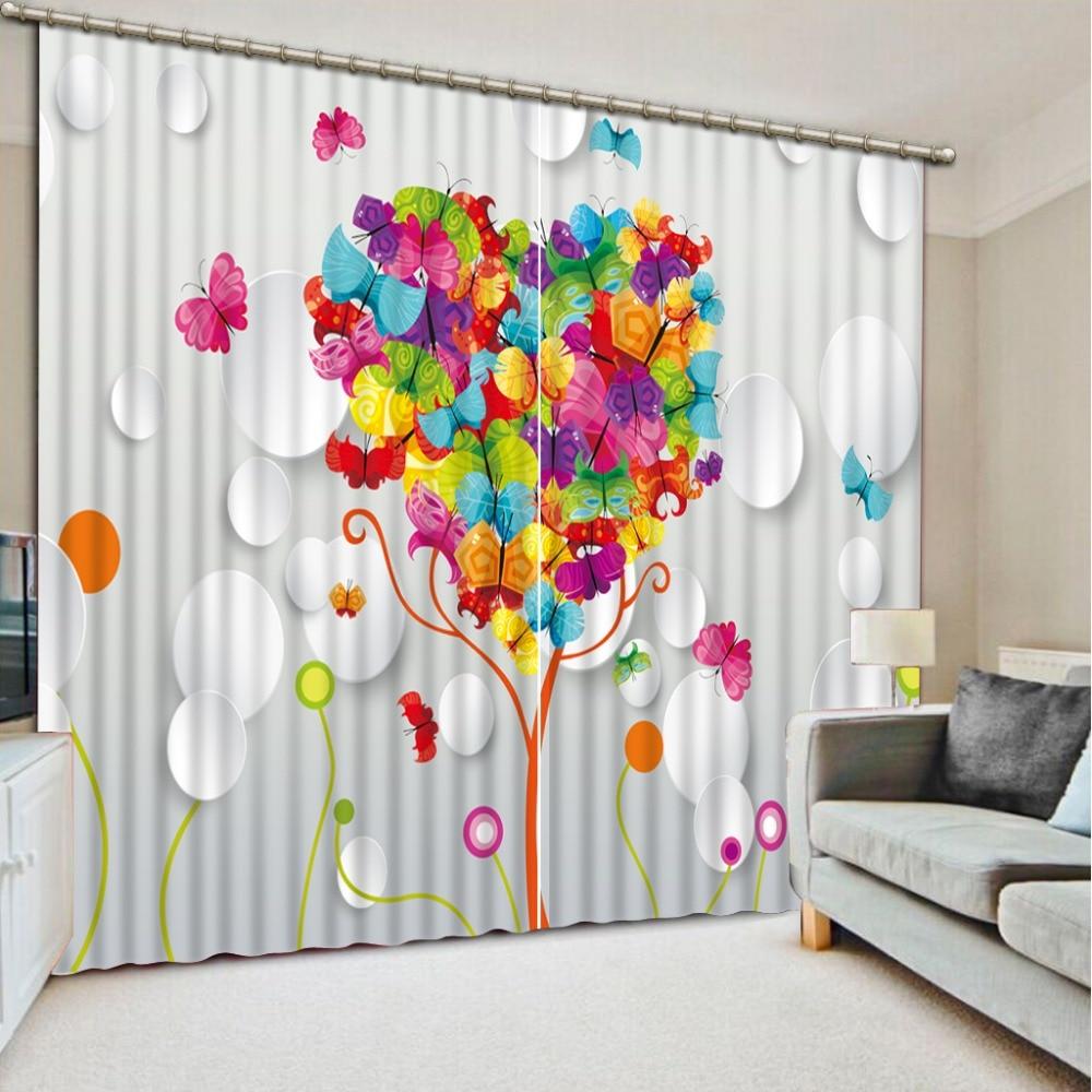 Пользовательские 3d занавески креативное дерево богатства 3d Роскошные занавески для гостиной 3d вышитые вуаль занавески белые занавески