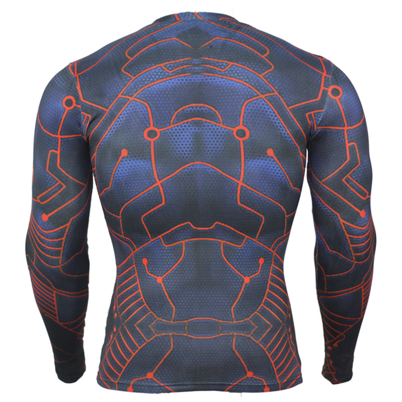 023ca5a9b1177 Camisa para hombre De Compresión Crossfit Batman Lycra de Impresión 3D de Manga  Larga Camiseta de Los Hombres Camisetas Medias Marca Ropa de Deporte Tops  ...