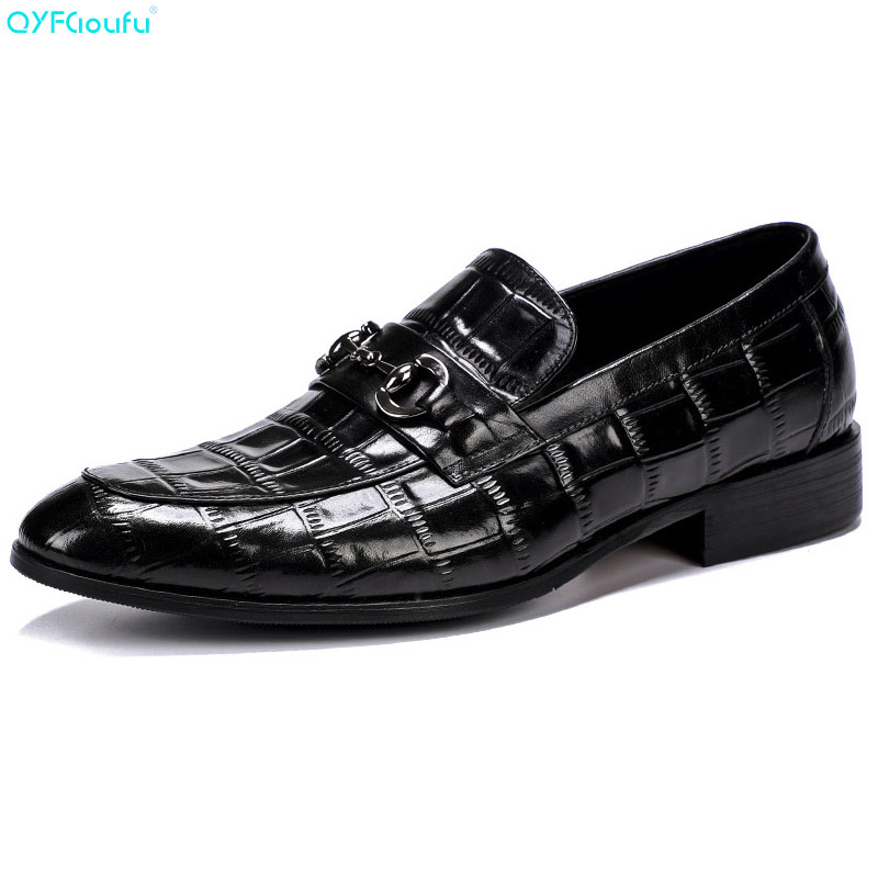 QYFCIOUFU Fashion Designer Men Wedding Shoe Oxford Genuine Leather Shoe Formal High Quality Italian Crocodile Pattern Dress ShoeQYFCIOUFU Fashion Designer Men Wedding Shoe Oxford Genuine Leather Shoe Formal High Quality Italian Crocodile Pattern Dress Shoe