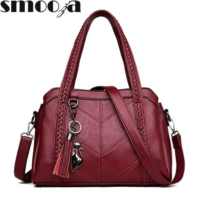 SMOOZA Women Casual Tote Bags 2020 Female Handbag   1