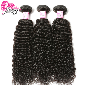 Image 1 - Beauty Forever Brazilian Curly Hair Weave Bundles Remy Human Hair Weaving Natural Color 8 26inch Free Shipping