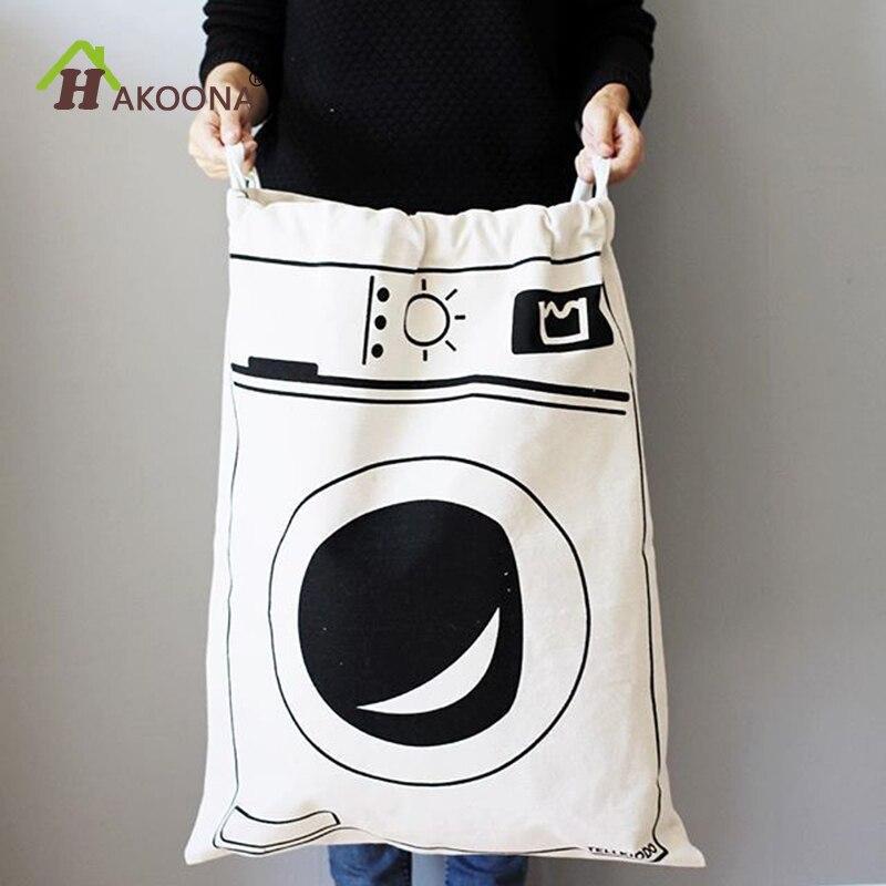 Bolsas de lavandería de almacenamiento de baño HAKOONA para lavadoras ropa sucia bolsas de cordón de gran tamaño para almacenamiento de juguetes para niños