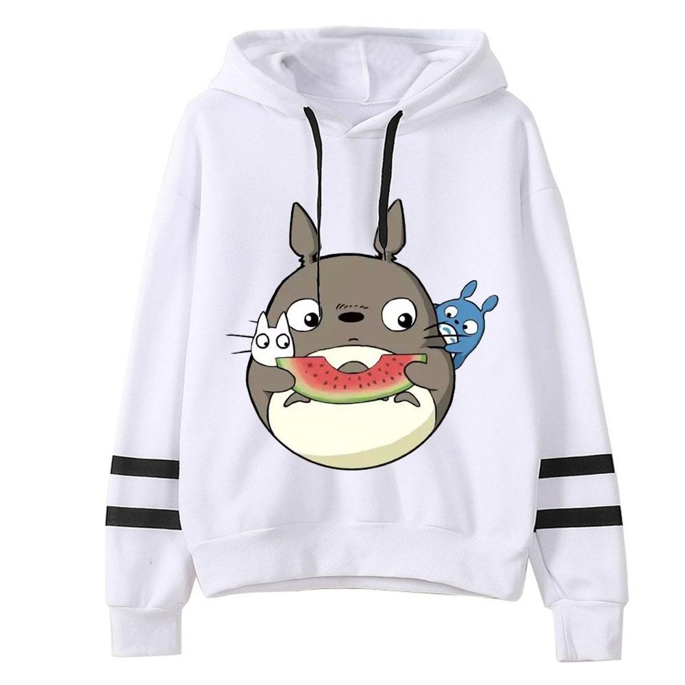 HTB1uYK0aFzsK1Rjy1Xbq6xOaFXau - 2019 Spring Autumn kawaii Women Cute Totoro Print Hoodies Women harajuku Long Sleeve Hooded Cartoon Printting Sweatshirts Tops