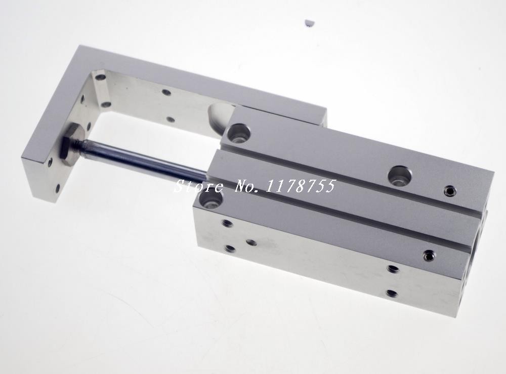 SMC Type MXH10-20 Compact Pneumatic Slide Cylinder Bore Size 10mm Stroke 20mm new original smc type pneumatic compact pneumatic slider cylinder mxh10 15