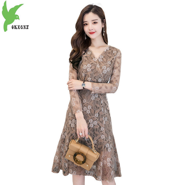 2018 Lace Dresses Womens Spring Summer New Fashion Slim Lace Dress