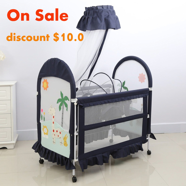 hot sales attachable metal frame baby cot-in Baby Cribs from Mother ...
