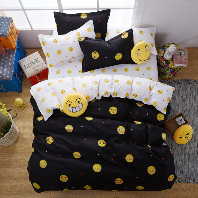Delicieux King Queen Size Luxury Bedlinen Smiley Face/fruit 4/3pc Bedding Duvet Cover  Bed