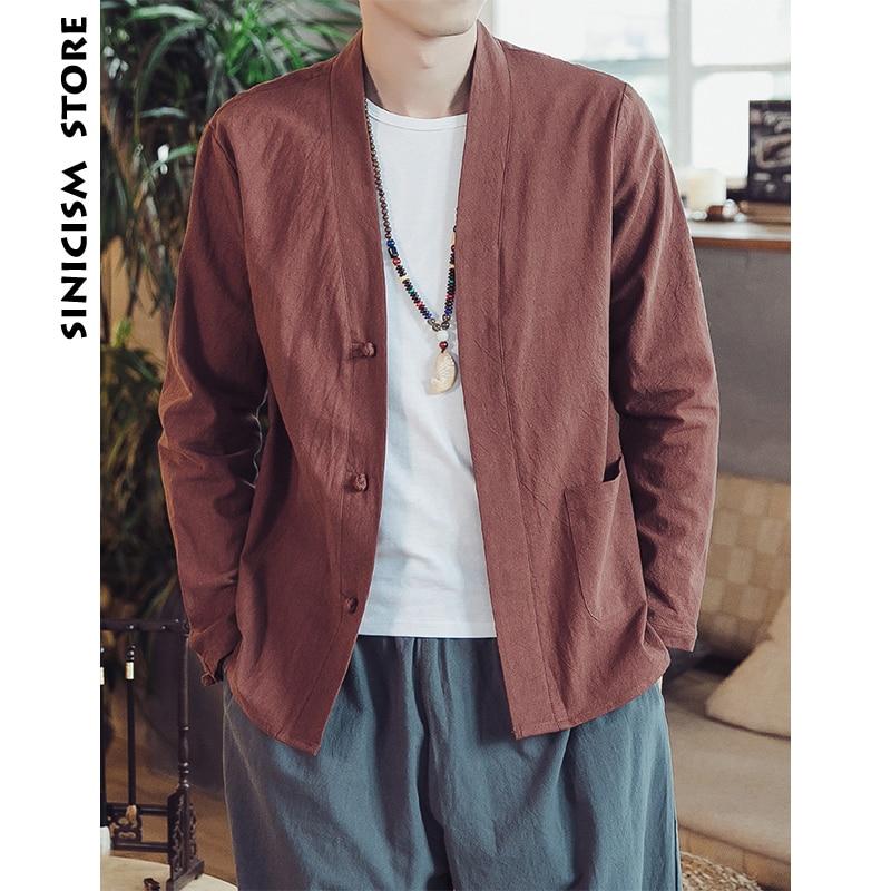 Sinicism Store Men Cotton Harajuku Shirts 2018 Man Casual Black Long Sleeve Shirt Male Casual Autumn Button Fall Solid Clothing