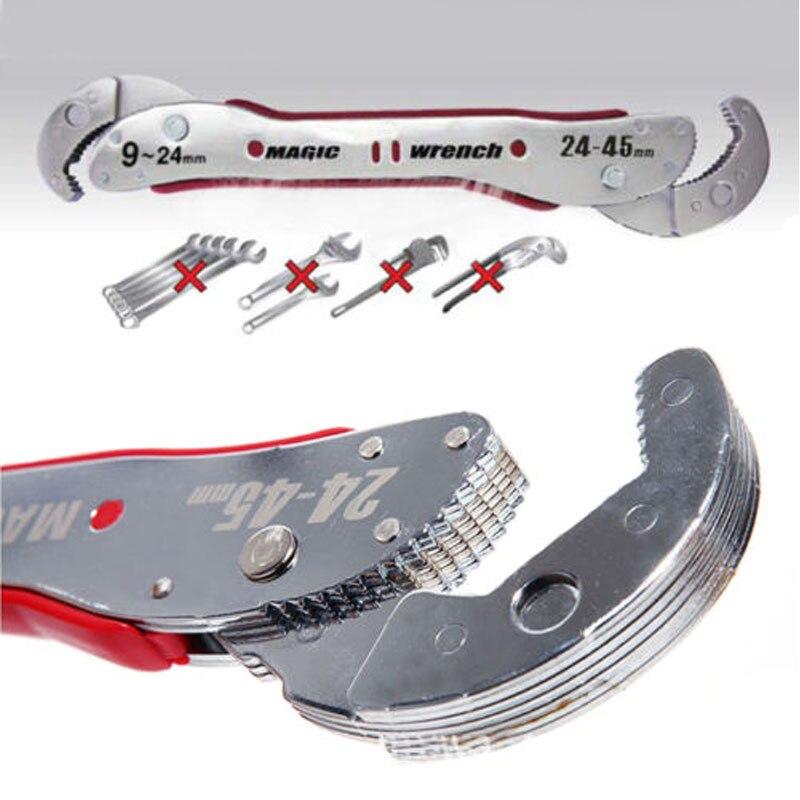 HLZS clé magique réglable multi-fonction outils de clé 9-45mm clé universelle tuyau maison outil à main prise rapide