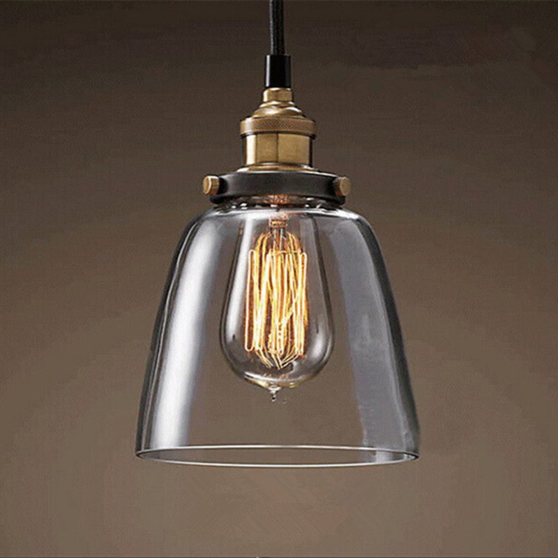 ФОТО Retro lamps glass pendant lamps vintage hanging light American Loft style bar/restaurants lighting fixture