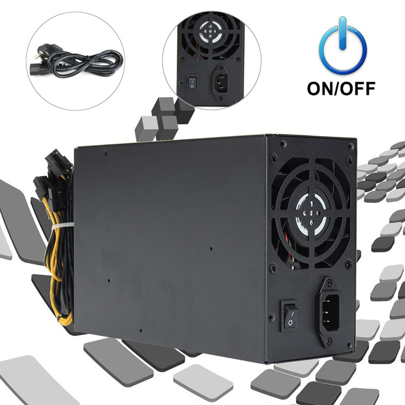 1800W Max mine switch power supply For Antminer A6 A7 S9 R4 S7 E9 Machine Miner High Quality Computer Power supply For BTC leo lionni it s mine