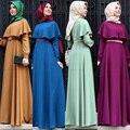 Nueva Personalidad Del Cabo-estilo turco abaya ropa musulmán Islámico del vestido de Coctel de las señoras de Manga Larga Vestidos Maxi de La Vendimia
