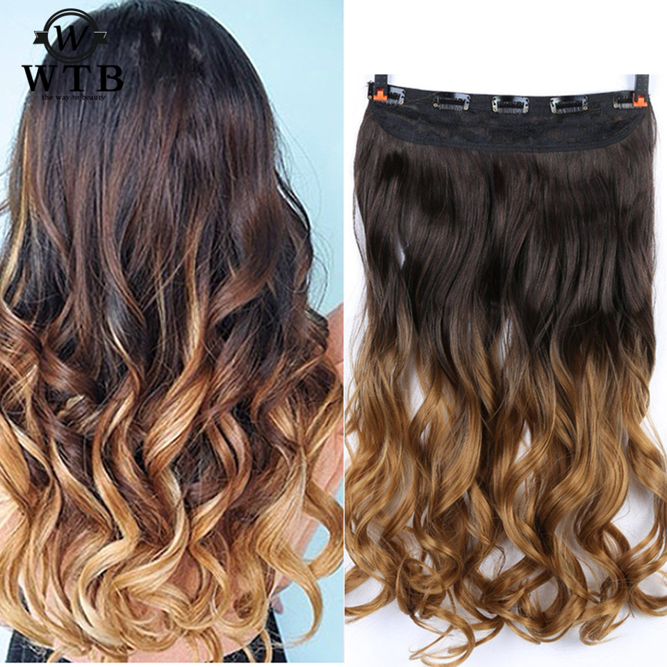 Synthetic Clip-in One Piece Synthetic Extensions Aosiwig 5 Clips On Curly Thick Hairpiece Clip In Hair Extensions Heat Resistant Fiber Synthetic Hair Party Cosplay For Human