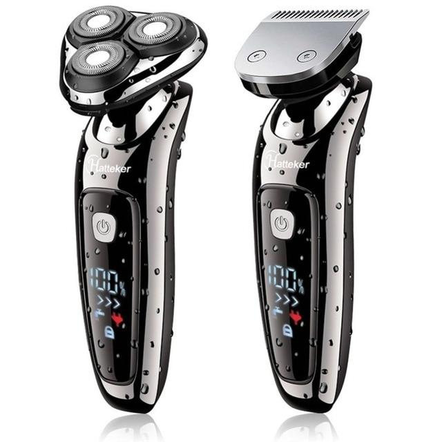 Электробритва для сухой и влажной уборки, электрическая бритва для лица для мужчин, машинка для бритья бороды, вращающаяся головка, usb перезаряжаемая, 2в1, набор для ухода